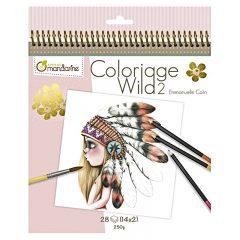Cuaderno para colorear Coloriage Wild 2 de Avenue Mandarine