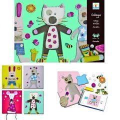 Kit 4 collages animales de Djeco