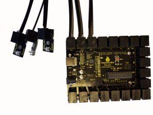 placa con sensores leds