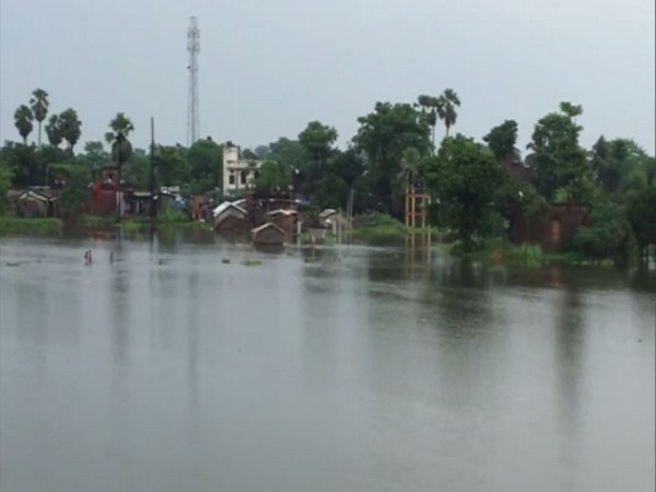 People in various districts of Bihar have been hit hard by floods for the last few days. (Photo/ANI)