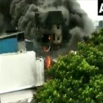 A visual from the chemical factory in Vapi on Saturday. Photo/AN