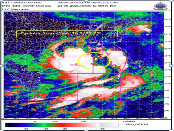 Visual representation of Cyclone Yaas (Photo/IMD)