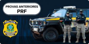 Provas anteriores PRF com oficiais da PRF e um carro