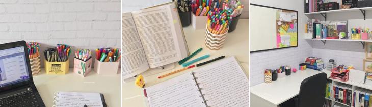 mesa de estudos como organizar