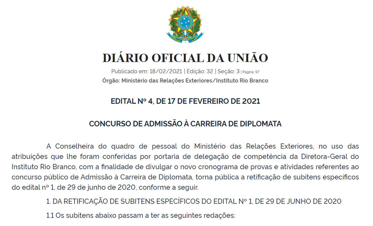 4º Edital CACD 2020