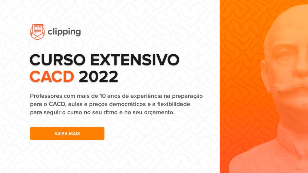 Curso Extensivo CACD 2022  Professores com mais de 10 anos de experiência na preparação para o CACD, aulas e preços democráticos e a flexibilidade para seguir o curso no seu ritmo e no seu orçamento.  Saiba mais!