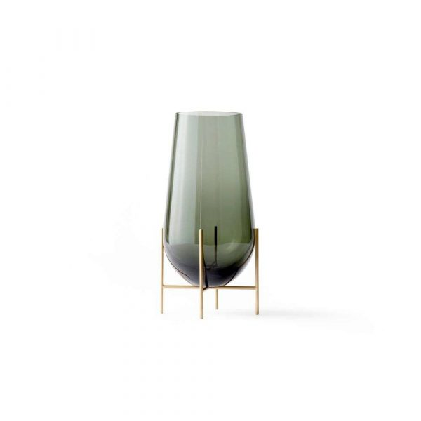 Echasse Vase Large Smoke/Brushed Brass - Menu