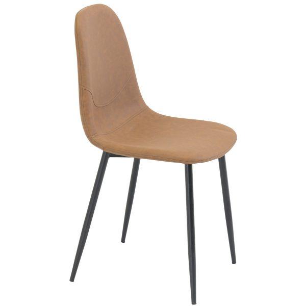 VENTURE DESIGN Polar spisebordsstol - brun PU og metal