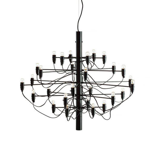 2097 / 30 Lysekrone Mat Sort LED - Flos