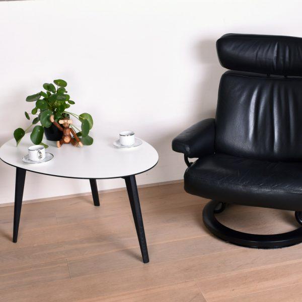 Sofabord Nimes, hvid laminat 90x67