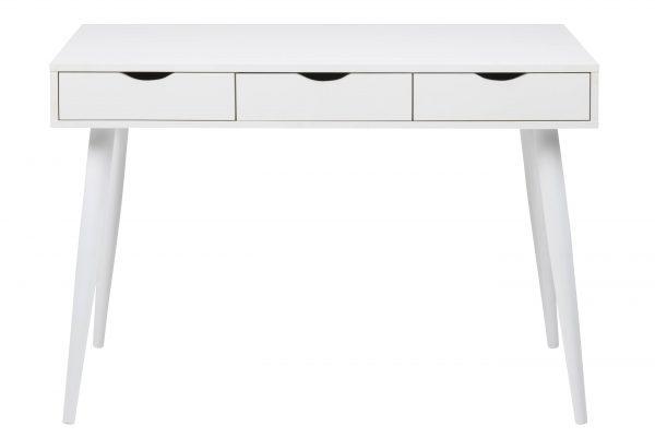 ACT NORDIC Neptun skrivebord - hvid melamin/metal, m. 3 skuffer (110x50)