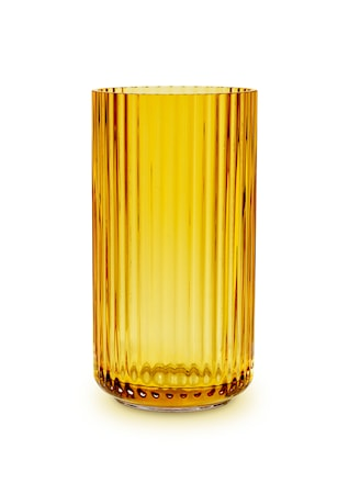 Lyngby Vase Amber Mundblæst Glas H20,5 cm