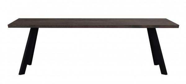 Fred plankebord - mørkebrun eg og sort metal (240x100)