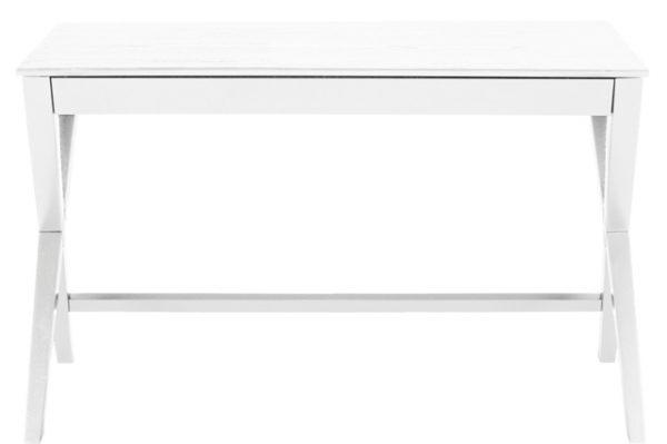 Writex skrivebord - Hvidt gummitræ, m. skuffe
