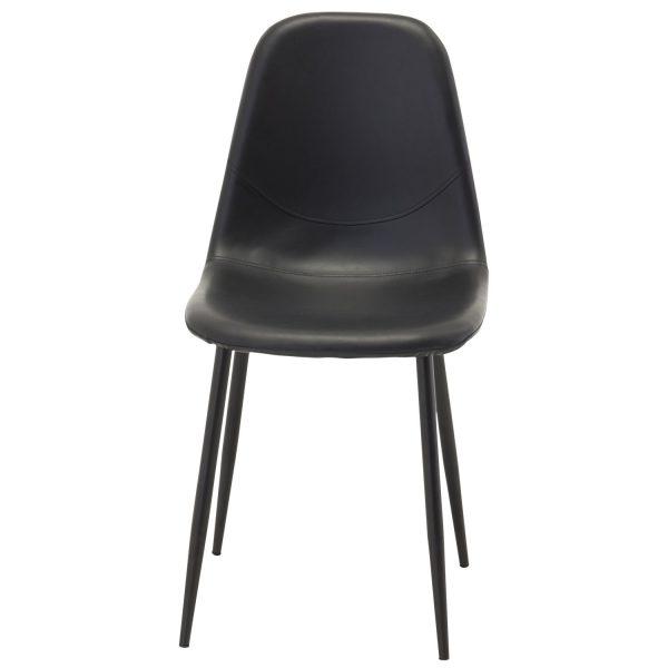 VENTURE DESIGN Polar spisebordsstol - sort PU og metal