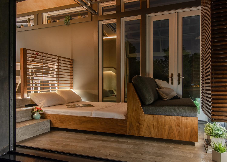 2-personers seng og sovesofa