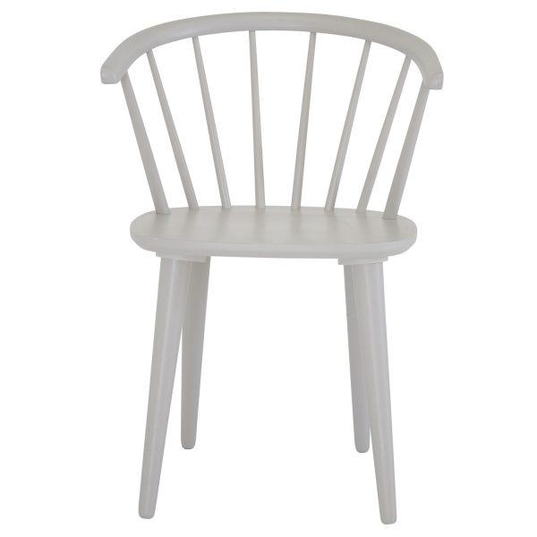 VENTURE DESIGN Bullerbyn spisebordsstol, m. armlæn - lysegrå gummitræ