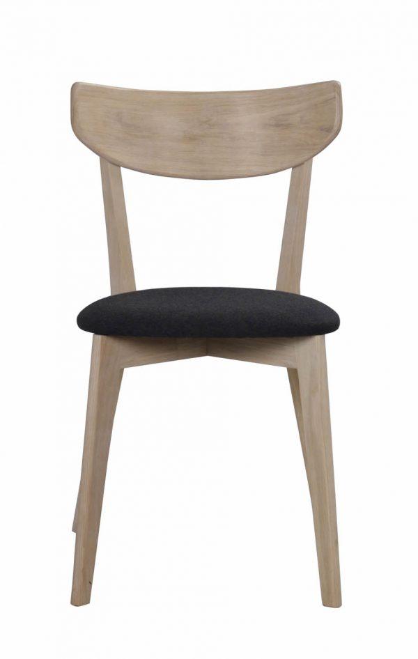 Ami spisebordsstol - hvidpigmenteret eg og mørkegråt filt