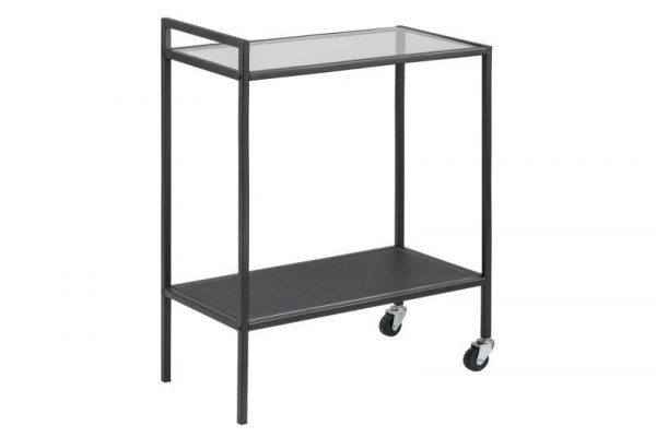 Seaford rullebord - stål med glasplade, m. hjul
