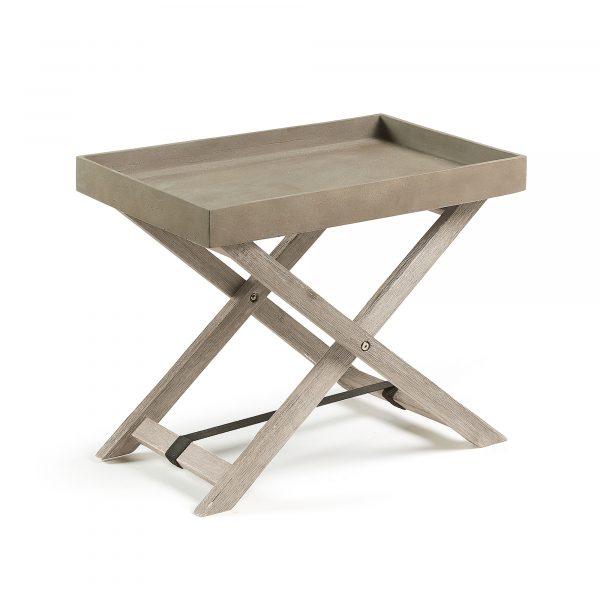 LAFORMA Stahl bakkebord - rustbrun/natur cement/akacietræ (55x35)