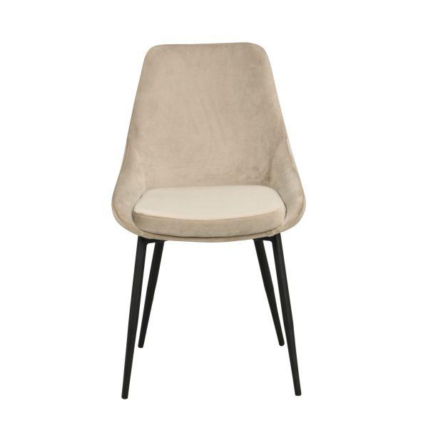 ROWICA Sierra spisebordsstol - beige polyester og sort metal
