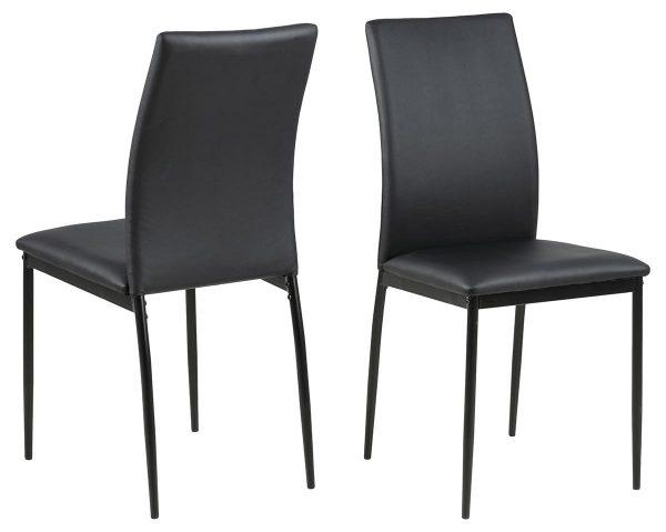 Demina spisebordsstol - sort kunstlæder/metal