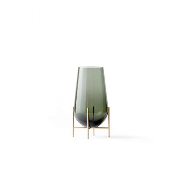 Echasse Vase Medium Smoke/Brushed Brass - Menu