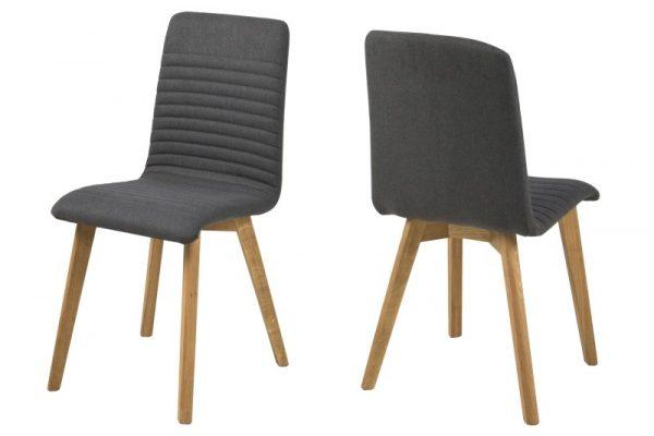 Arosa spisebordsstol - antracitgrå stof, træ ben