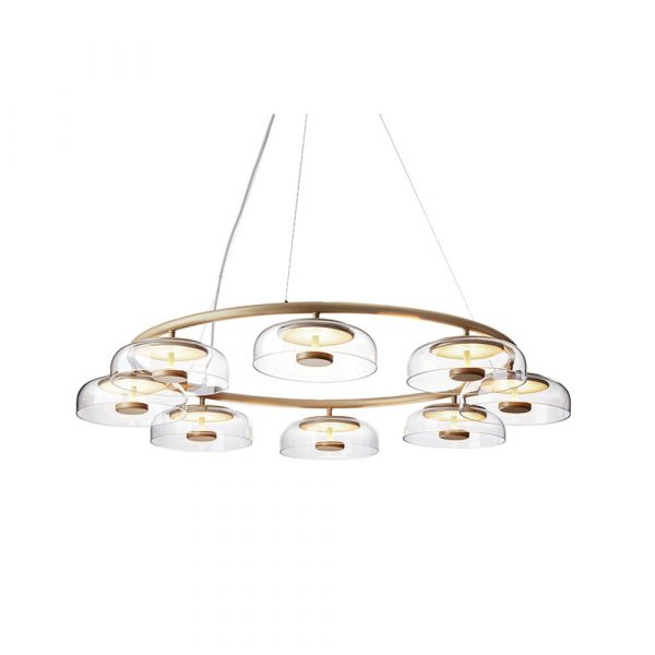 Blossi 8 Lysekrone Nordic Gold/Clear - Nuura