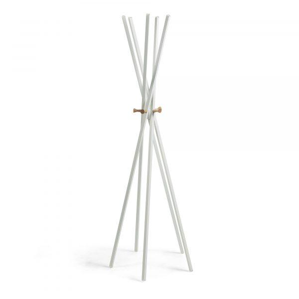 LAFORMA Benzara stumtjener - hvid/natur metal/træ