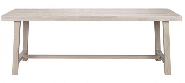 Brooklyn spisebord - hvidpigmenteret eg m. udtræk (220x95)