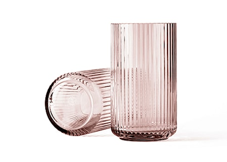 Lyngby Vase Burgundy Mundblæst Glas H31 cm