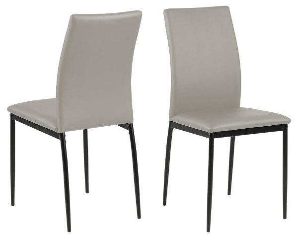 Demina spisebordsstol - taupe/sort kunstlæder/metal