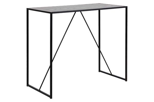 ACT NORDIC Seaford barbord - sort melamin ask/metal, rektangulær (120x60)