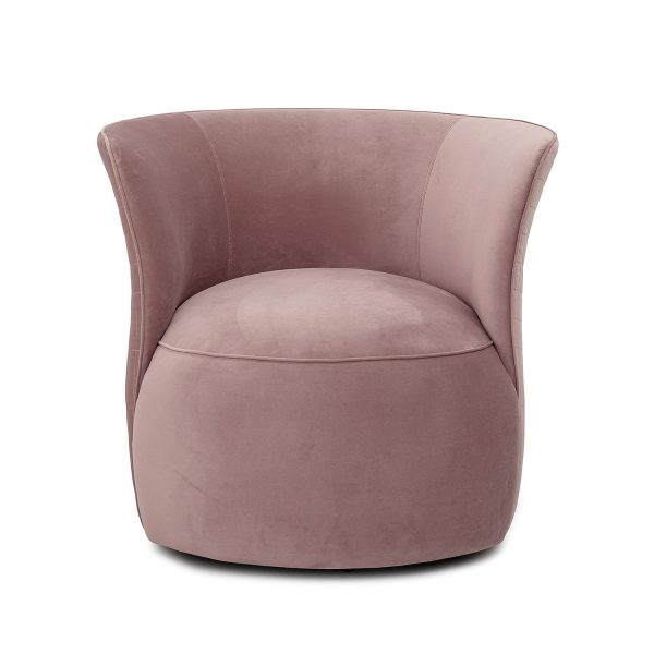 CREATIVE COLLECTION Figure loungestol, m. armlæn - rosa polyester