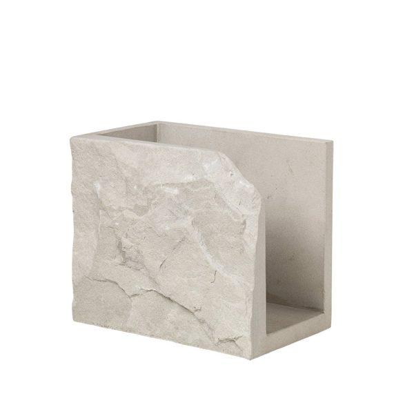 KRISTINA DAM STUDIO Matter magasinholder - sand sandsten