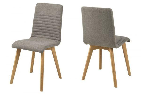 Arosa spisebordsstol - lysegrå stof, træ ben