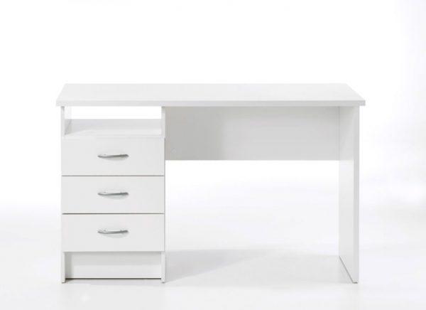 Function Plus skrivebord - Hvidt træ, m. 3 skuffer