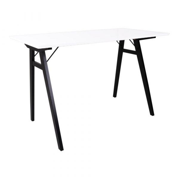 HOUSE NORDIC Vojens skrivebord - hvid/sort MDF/gummitræ, rektangulær (120x60)