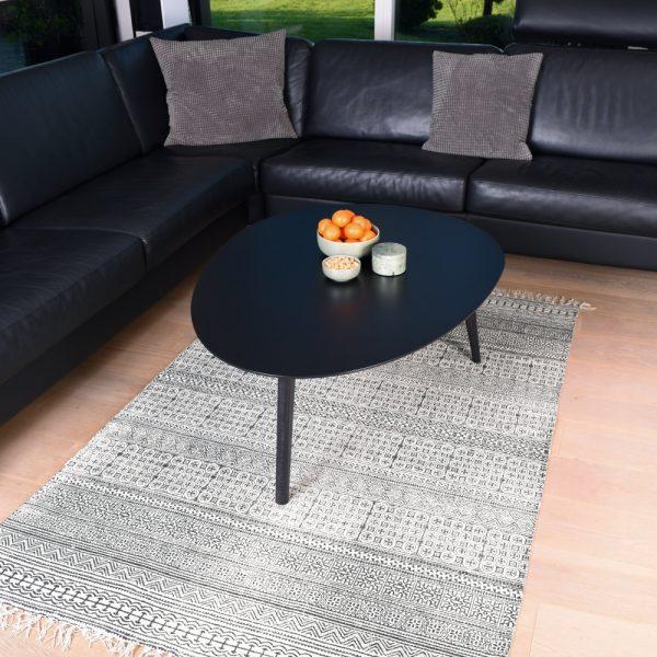 Sofabord, Grenoble, sort laminat 120x88
