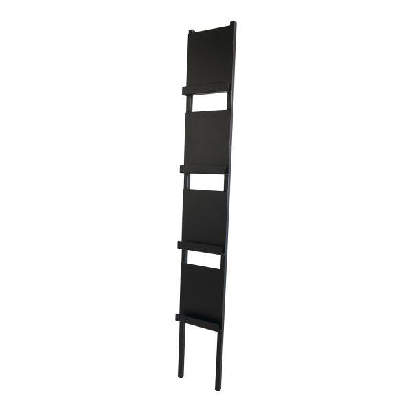 SPINDER DESIGN rektangulær Paper magasinholder, m. 4 hylder - sort stål