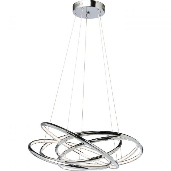 KARE DESIGN Saturn LED Chrome Big loftlampe - sølv aluminium
