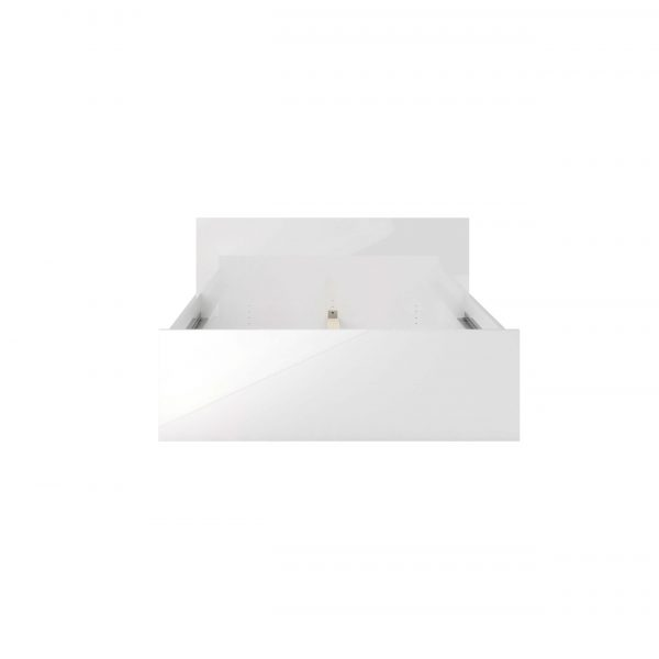 Naia sengeramme - hvid højglans (140x200)