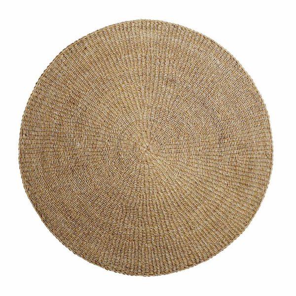 BLOOMINGVILLE Acen gulvtæppe, rund - natur søgræs (Ø 200)
