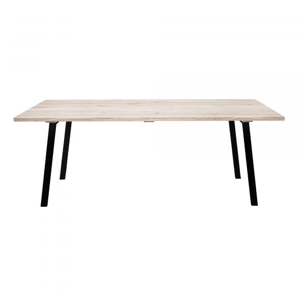BLOOMINGVILLE Cozy plankebord - natur/sort egetræ/jern, rektangulær (200x95)