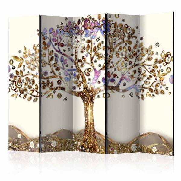 ARTGEIST Golden Tree II rumdeler - multifarvet print (172x225)