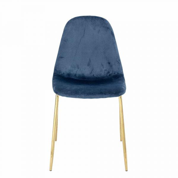 BLOOMINGVILLE Em spisebordsstol - blå/guld polyester/metal