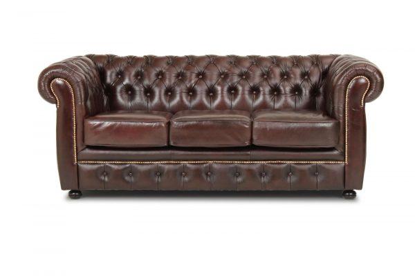 Liverpool 3 personer chesterfield sofa - brun