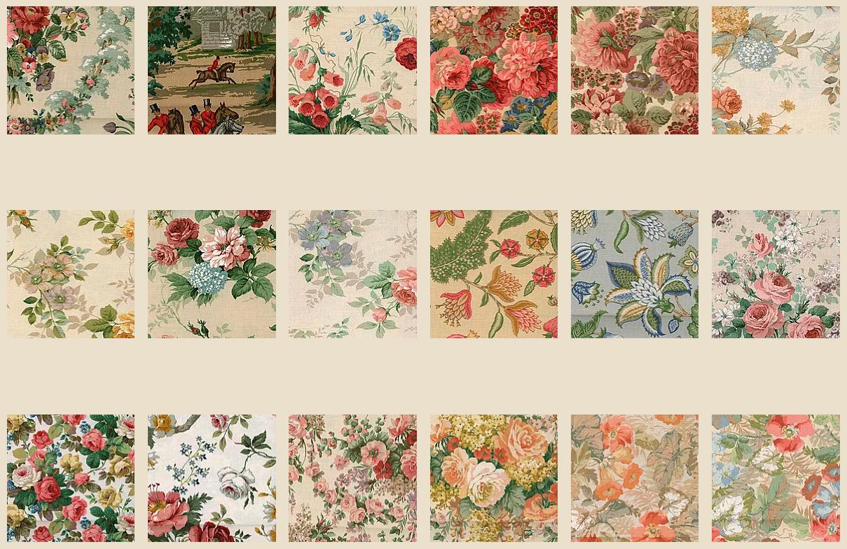 Blomster møbelpolstring