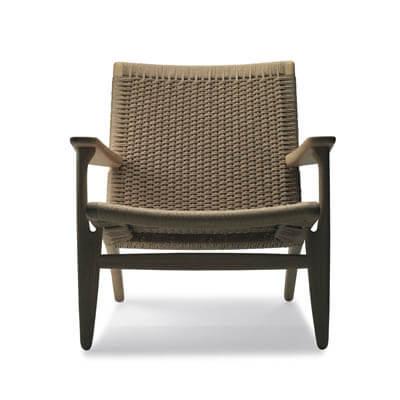 CH25 lænestol af flet af Wegner
